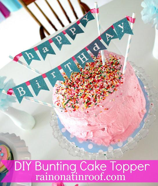 Easy DIY Cake Topper