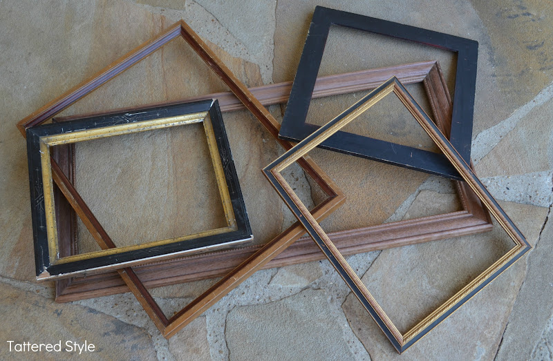 i decided the most practical solution was to amass a collection of old frames and then have them fitted with mirrors