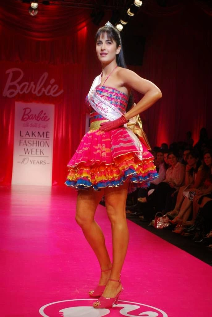 Katrina Kaif walk the ramp for Barbie doll Show at LIFW on 27th March 2009