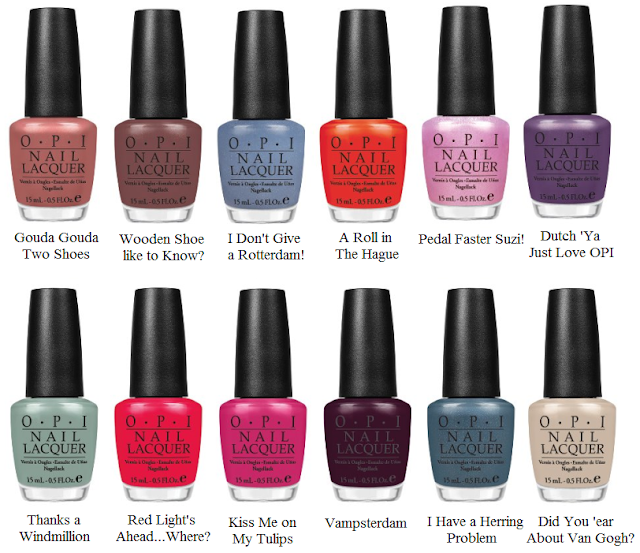 OPI Spring/Summer 2012 Holland Collection
