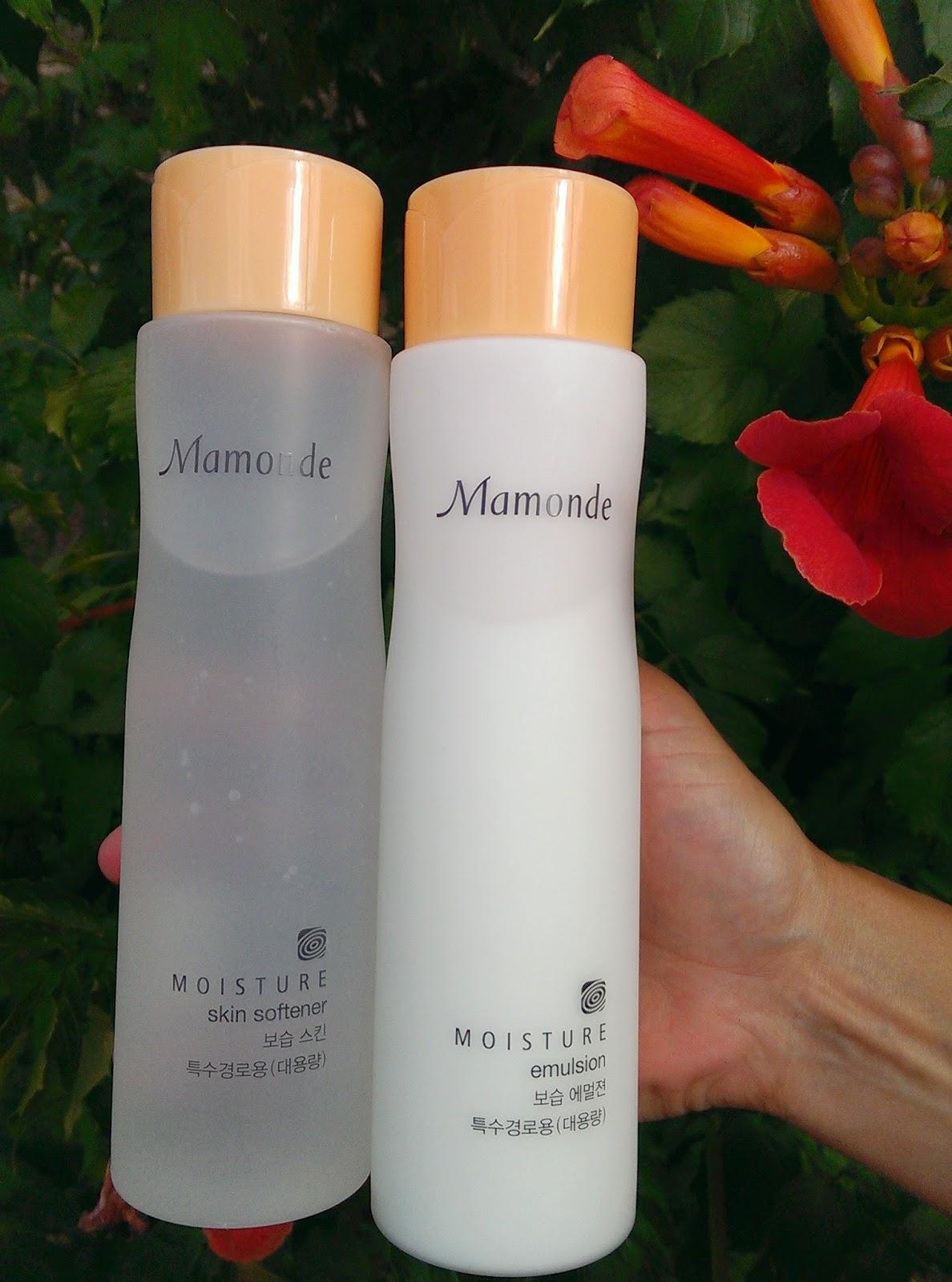 Mamonde Moisture Skin Softener и Mamonde Moisture Emulsion
