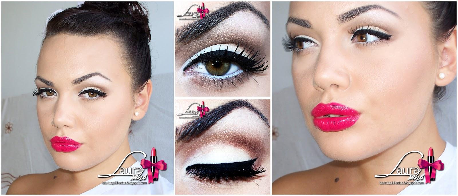 Look del dia lotd pretty pleases neutros fuchsia - Maquillage pin up ...