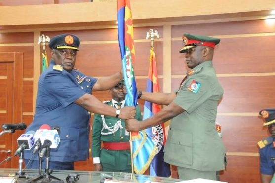 Former Chief of Defence Staff, Badeh hands over to new CODS(Photos)