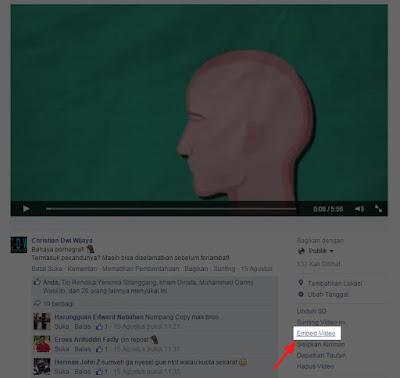Cara Memasukan Video Facebook ke dalam Blog