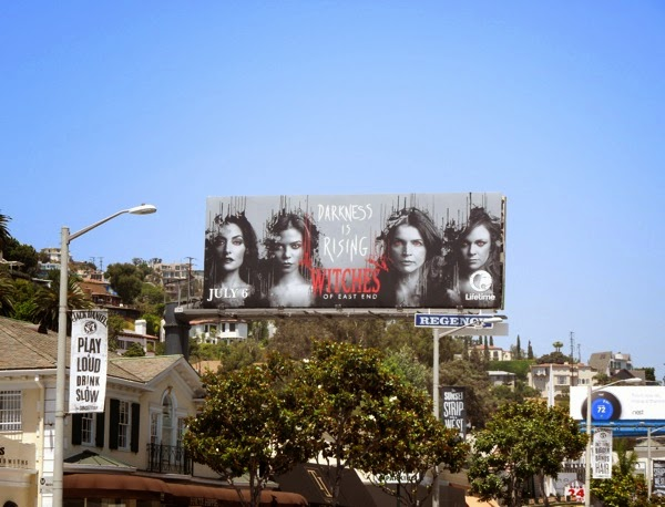 Witches of East End season 2 billboard Sunset Strip