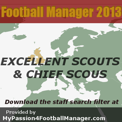 FM13 Best scouts and chief scouts