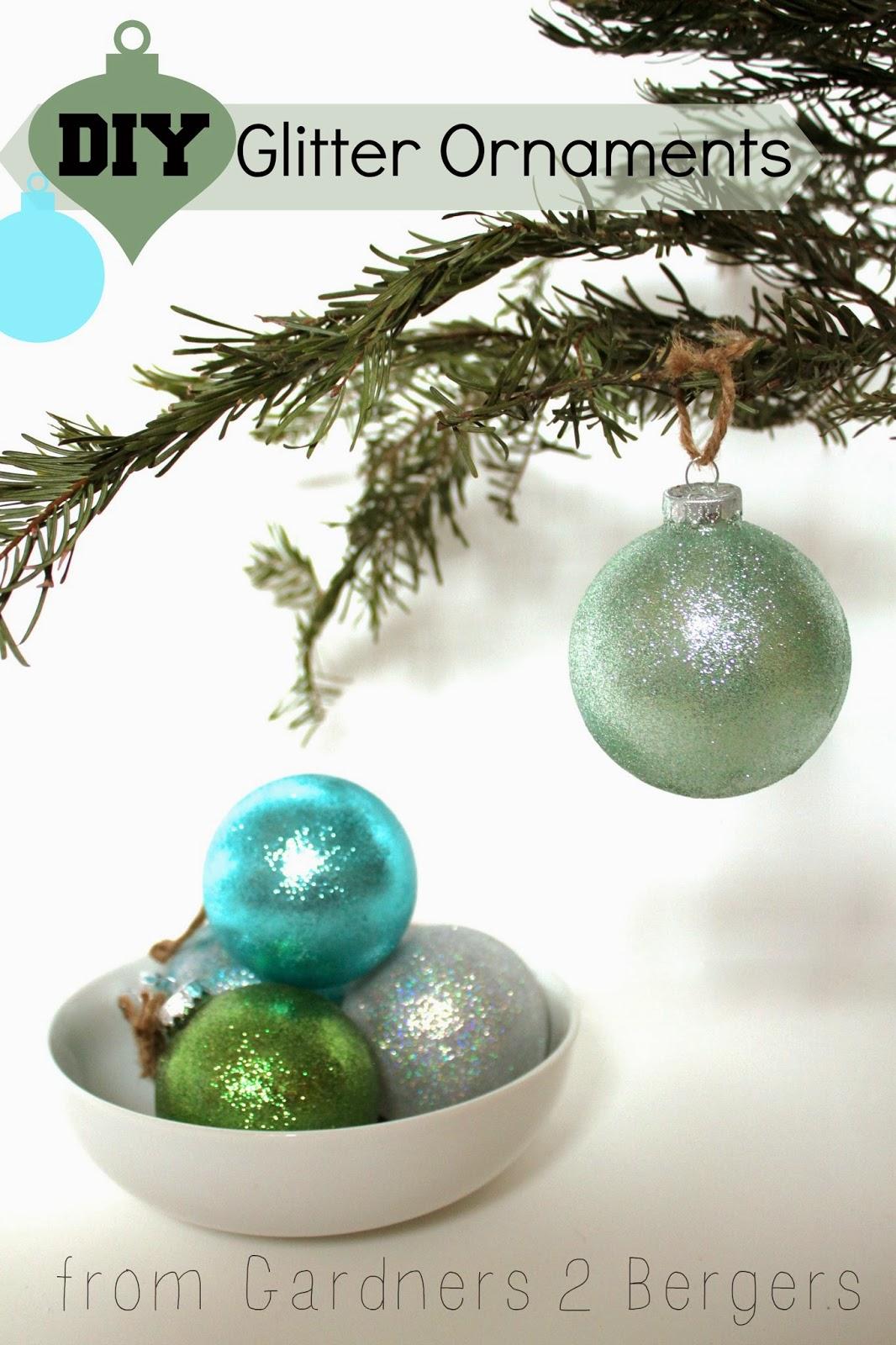 homemade glitter covered ornaments handmade ornament no 21