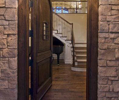 Fotos y dise os de puertas puertas correderas de madera for Puertas para terrazas madera