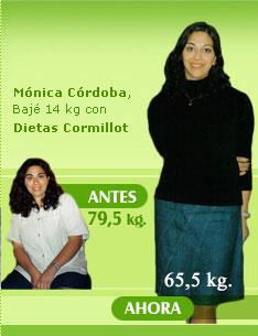 bajar 14 kilos 79 kilos 65 kilos dieta cormillot testimonios reales