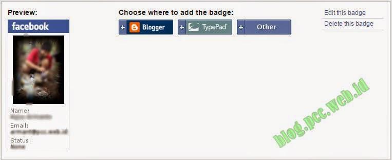 Cara Menambahkan Lencana Profil Facebook di Blogger
