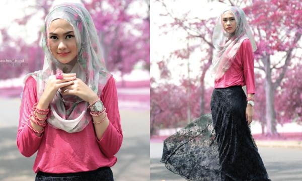 Gaya Hijab Ala Indah Nada Puspita