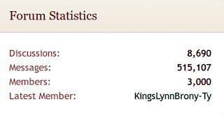 UK of Equestria screenshot showing 3,000 members