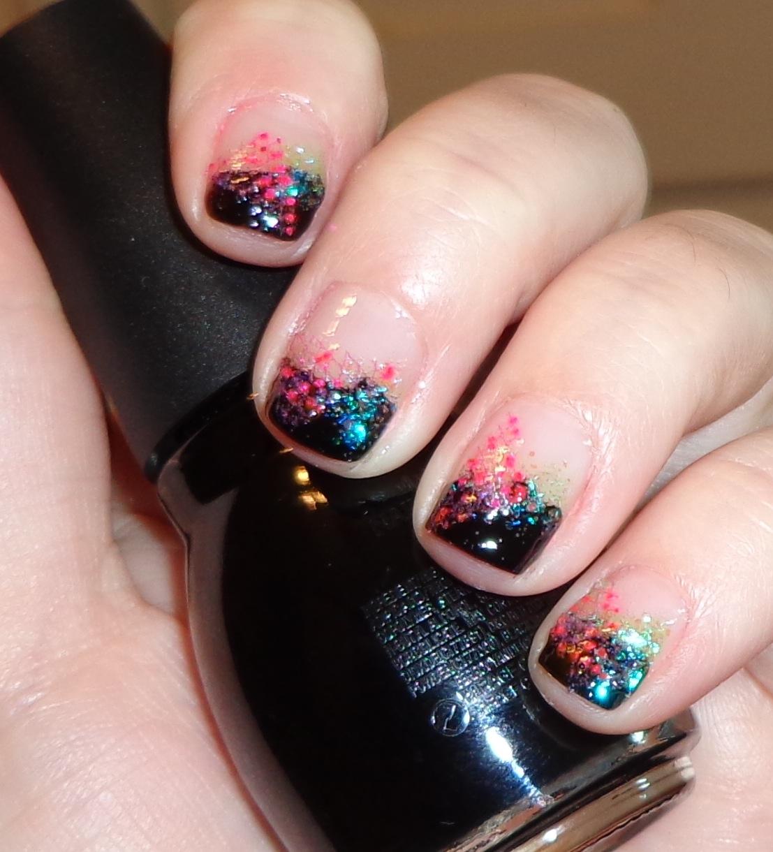 Маникюр рисунки на ногтях с блестками