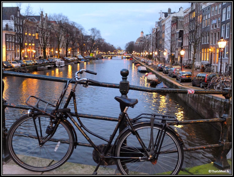 Amsterdam Jordaan vélo ballade centre ville pont rivière fleuve