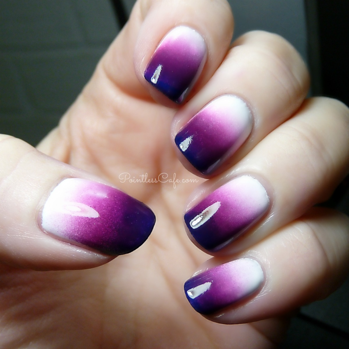 White color nail art - The Digital Dozen Does Winter Wonderland Day Winters Chill Purple And White Nail Art