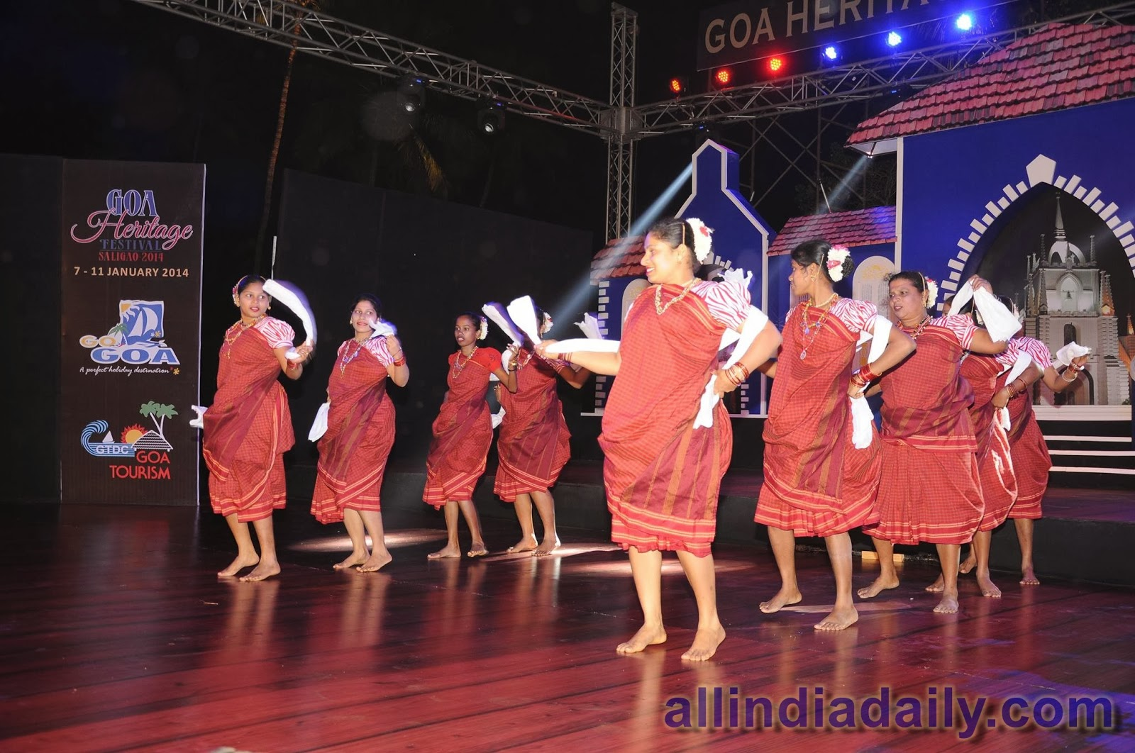 Kunbi dance is a fast and elegant dance by a group of women dancers.