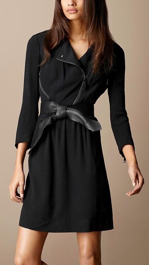 kemerli siyah elbise