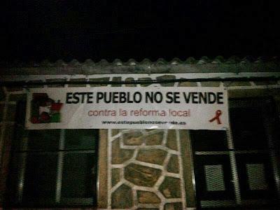 Santa María de los Llanos no se vende, contra la reforma local