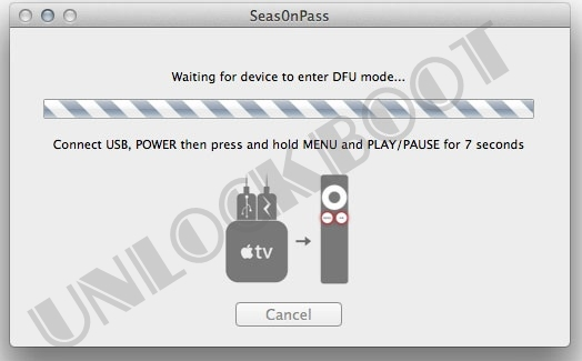 Seas0nPass Put Apple tv in DFU Mode