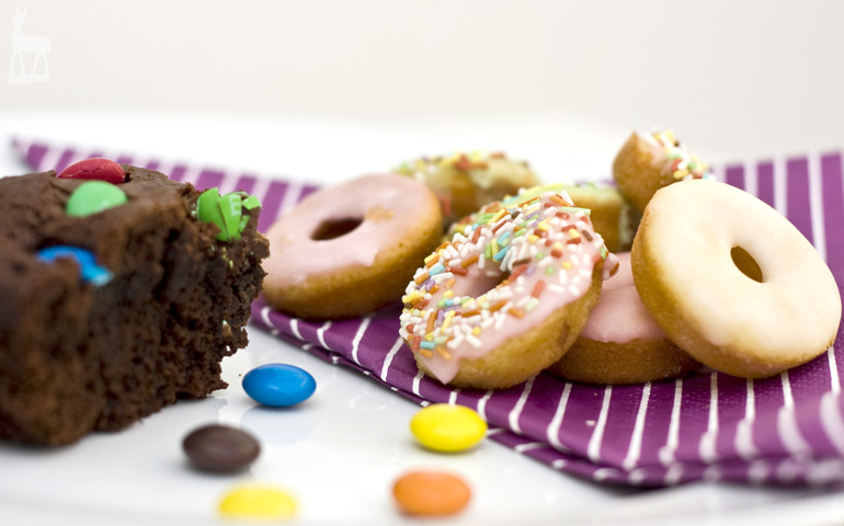 Brownie and Mini-Donuts