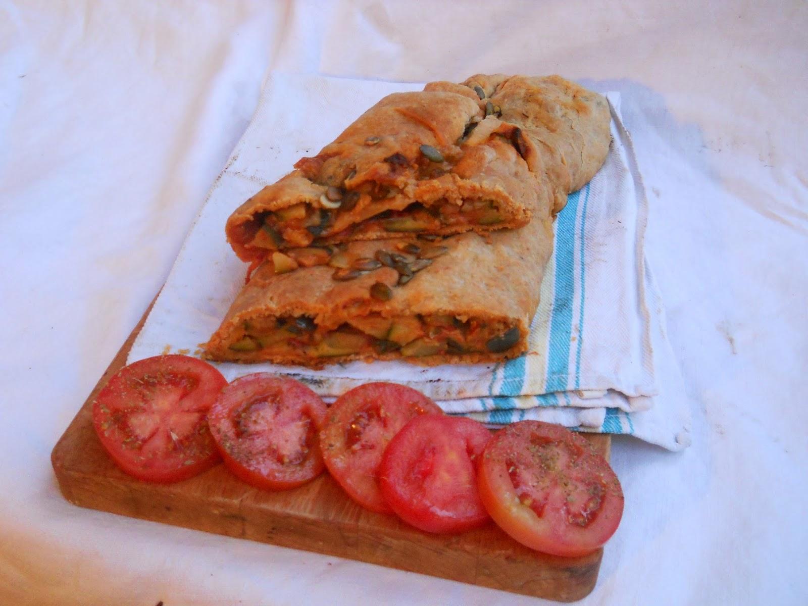 strudel con farina multicereali del molino grassi ripieno di verdure