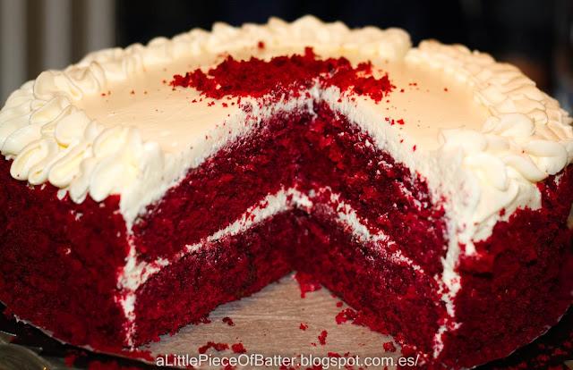 Tarta red velvet o tarta de terciopelo rojo