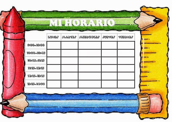 Horario de Clase - el blog de carlos