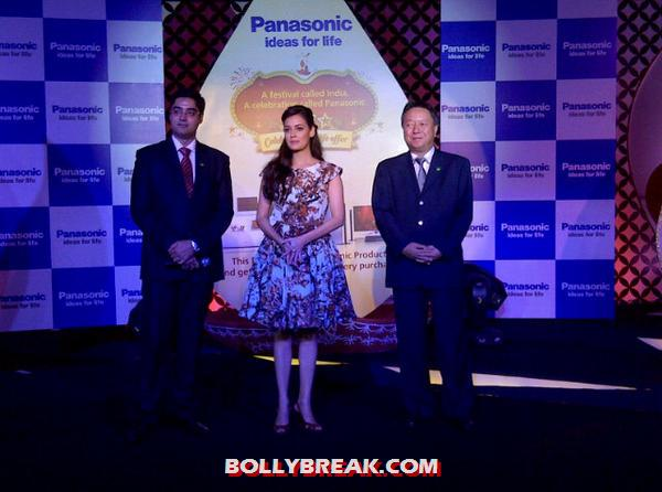 Dia mirza attended in a knee length floral dress looking superb as always -  Dia Mirza at a Panasonic Event