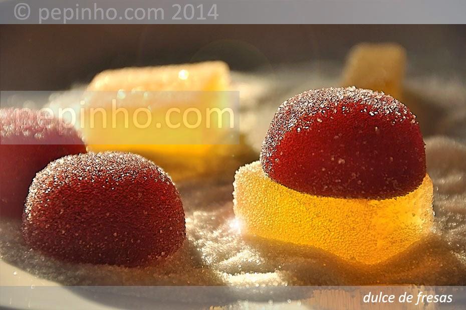 Dulce de fresas y piña