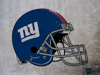 New Yorks Giants Helmet Design on Wall HD Wallpaper
