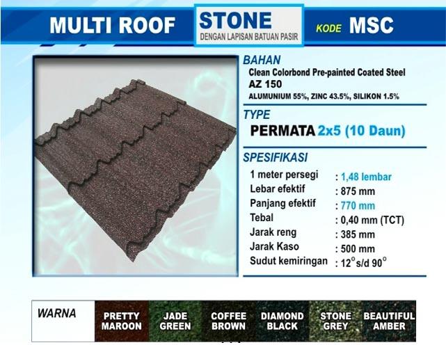 Jual Genteng Metal Multi Roof di Bandung, Distributor Sakura Roof