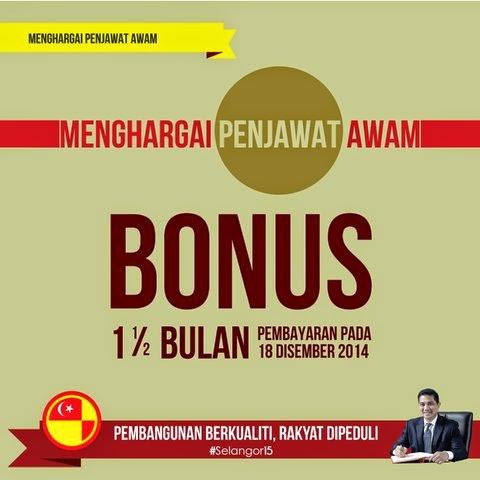 Bonus Penjawat Awam Selangor