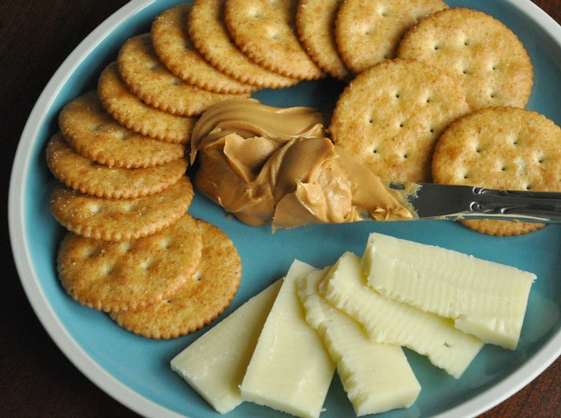 Peanut Butter Cheddar Snack Plate