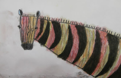chalk pastel and charcoal art for kids