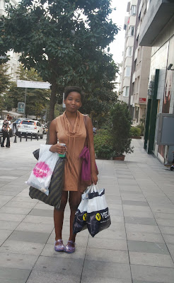 glitter daiquiri, jelly sandals, shopping in instanbul, istanbul, topshop, osmonbey, tourist, jersey dress