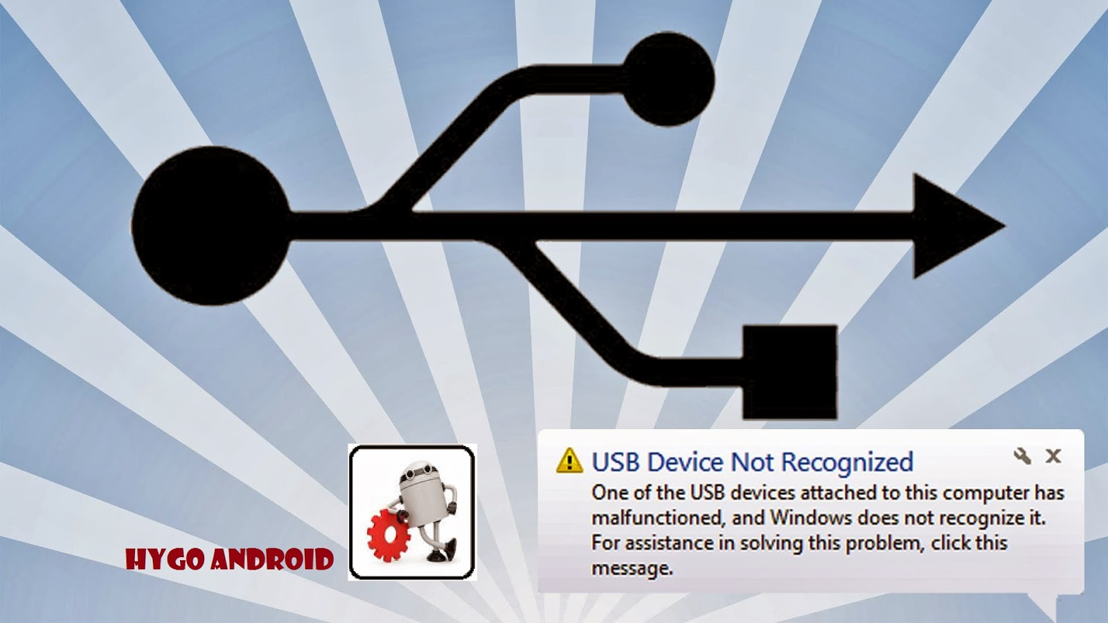 how to fix Usb device not recognized with PC gt-p1000