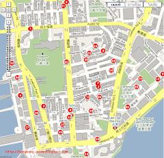 แผนที่โรงแรมในฮ่องกง