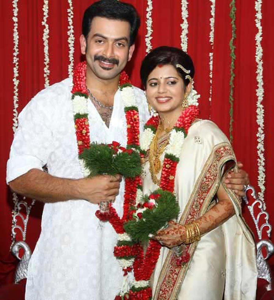 Cute Photos Prithviraj Marriage Wedding Photos Pics