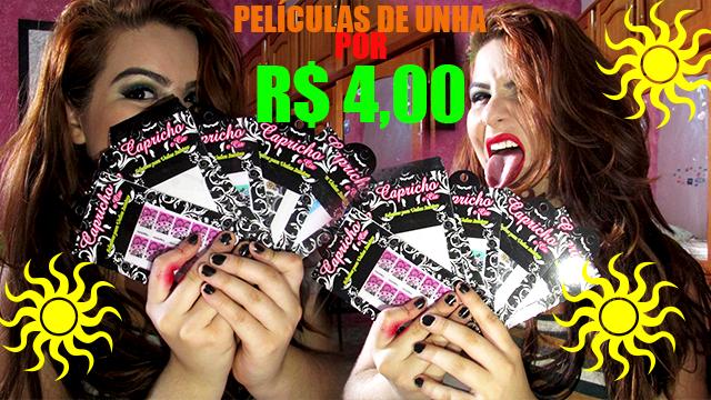 PELÍCULAS PARA UNHA COM R$4,00