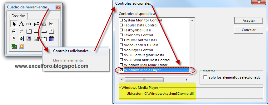 Control Windows Media Player en un UserForm. | EXCEL FORO ...