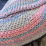 pastelowy dywan