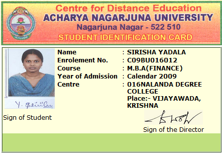 anucde student identification card (ID)