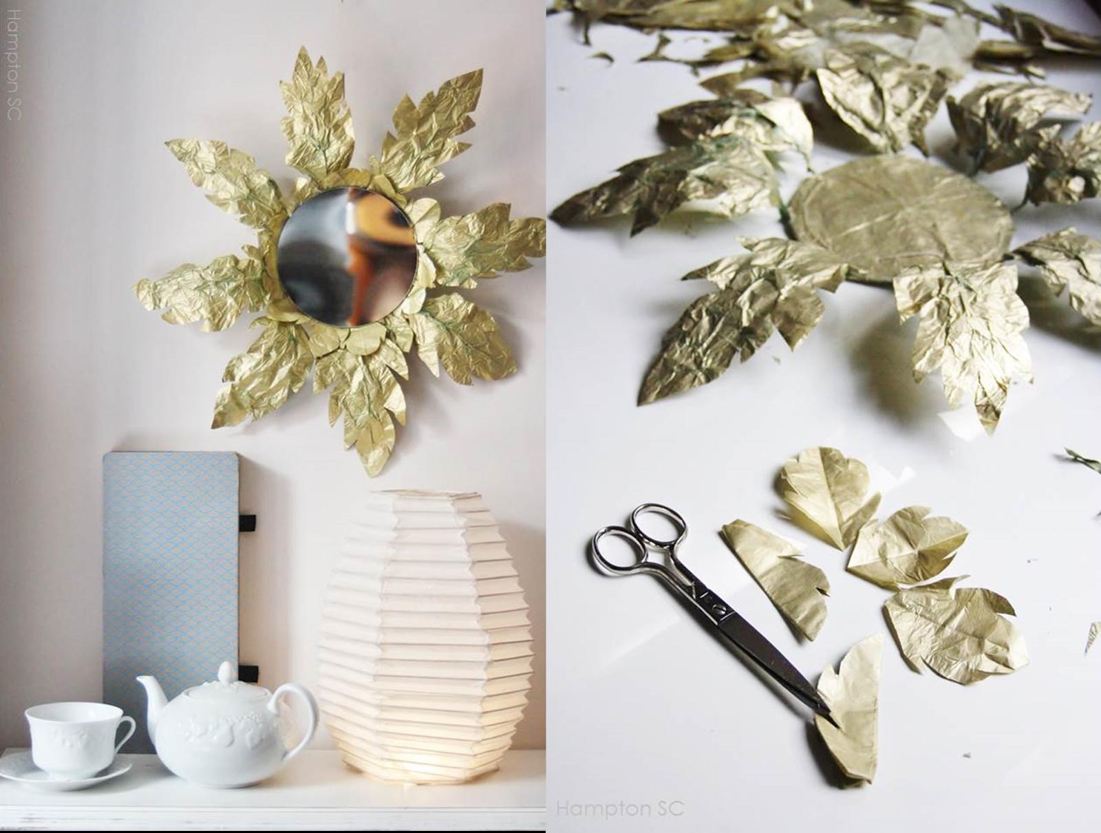 Small lowcost 5 tutoriales para espejos redondos - Espejo de papel ...