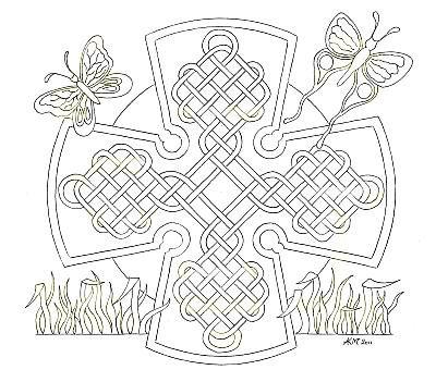 kleurplaten keltische mandala