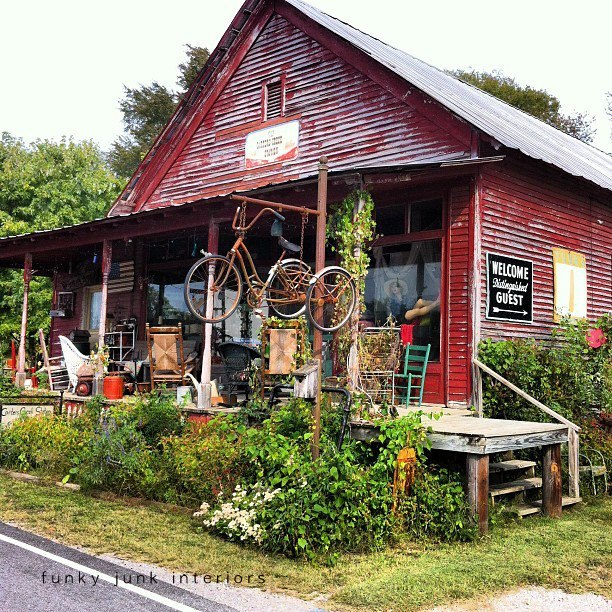 Carter's Creek Station Antiques, Spring Hill, Tn via Funky Junk Interiors