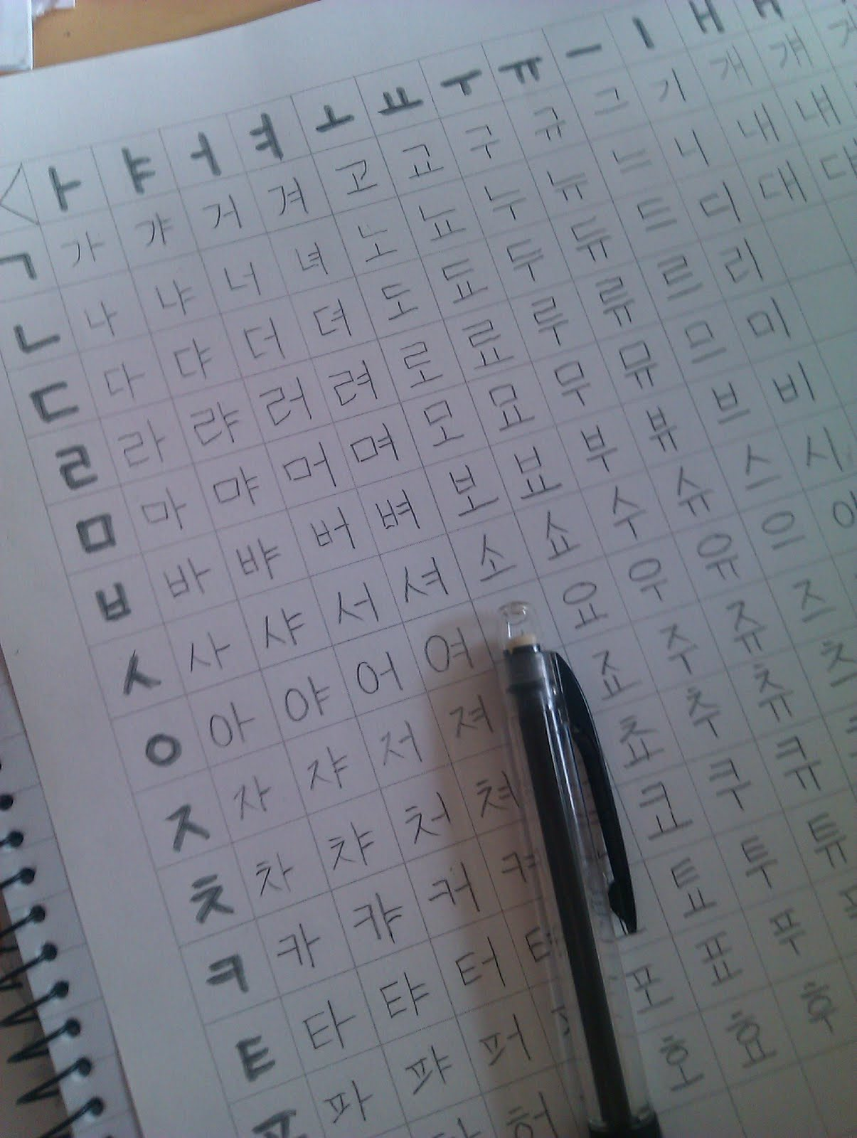 learning korean  free online graph paper