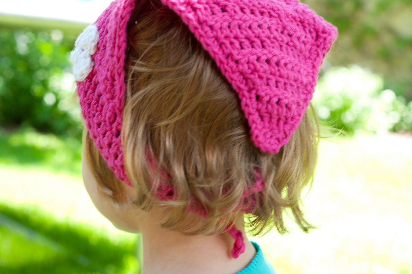 Crochet Hair Kerchief Pattern : Aesthetic Nest: Crochet: Simple Kerchief (Tutorial)