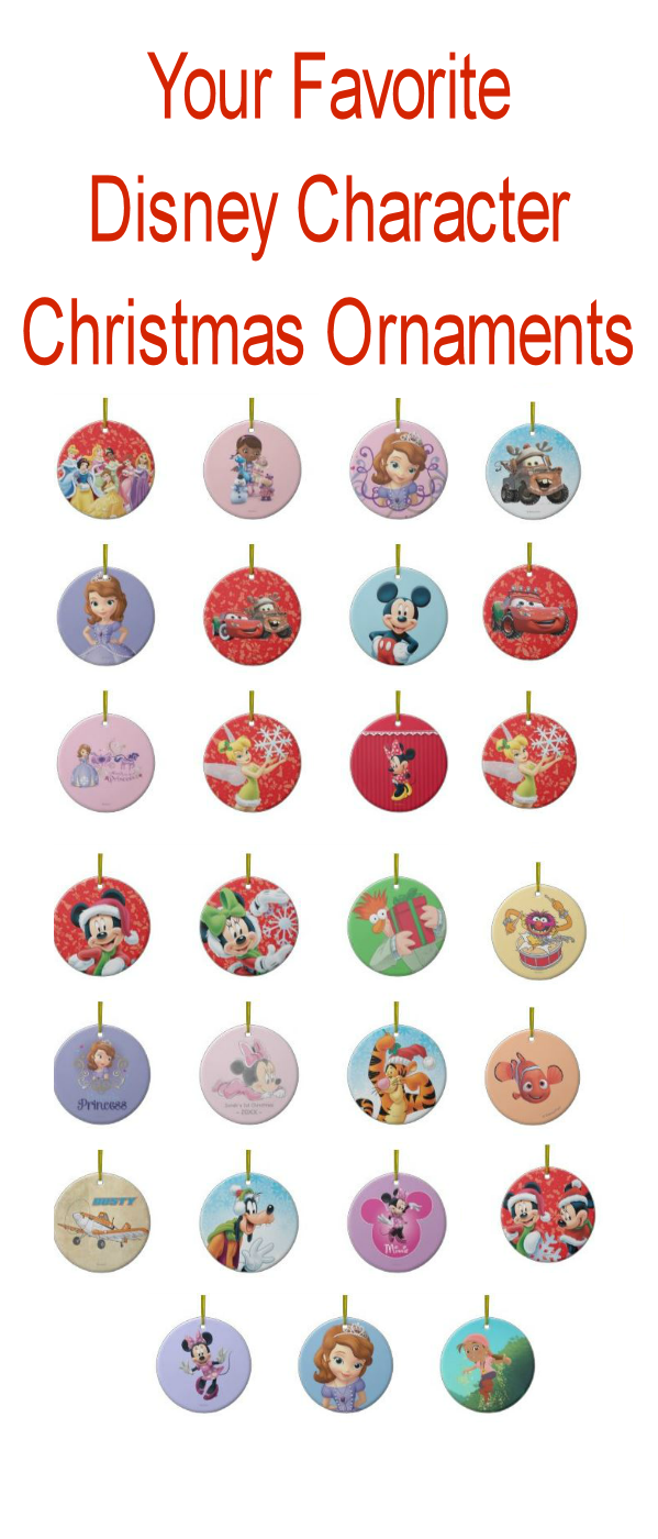 bwmedia designs: disney characters christmas tree ornaments