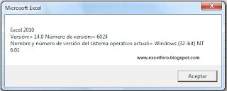 Versiones de Excel.