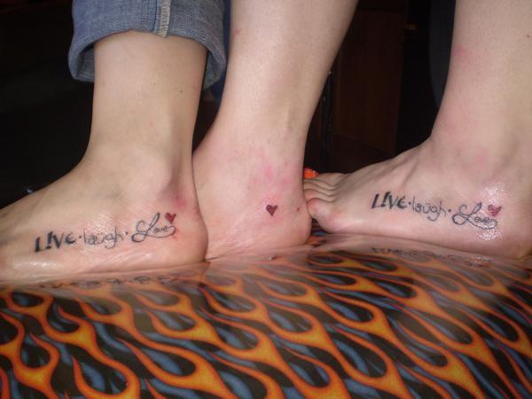 Sibling tattoos get a matching tattoo with